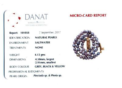 Certificate Natural Persian Gulf Basra Mixed Color Pearls Bracelet