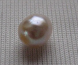 Natural half drilled pearl