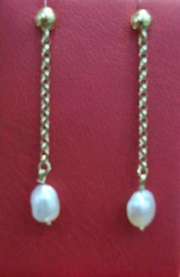 Natural Saltwater Pearl Drop Earrings