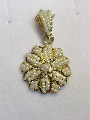 Natural Seed Pearls Flower Pendant