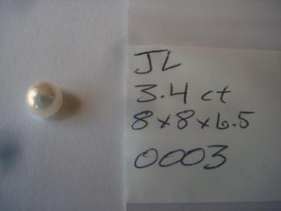 3.4 carat USA freshwater natural pearl