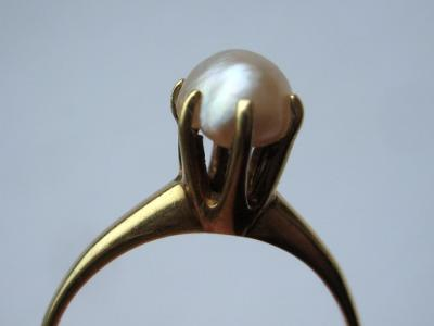 Natural USA River Pearl Ring