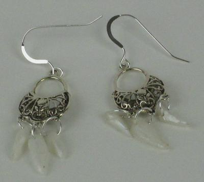 Natural USA Spike Pearl Earrings