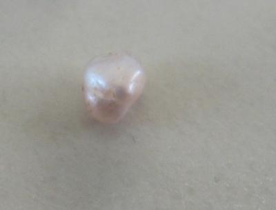 Natural white pearl from Texas