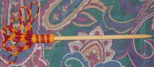 Orange Red Beading Stick