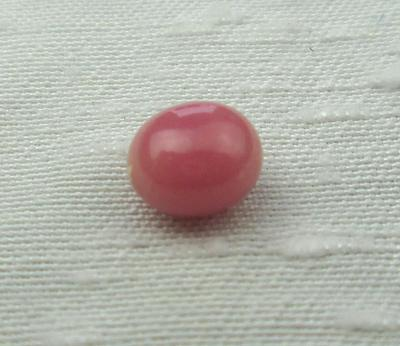 Oval Dark Pink Conch Pearl 7mm 1+ carats