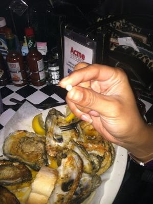 Oyster Pearl During Mardi Gras