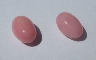 Pair Pink Conch Pearls 2.74 carats