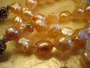Pale pink rosebud pearls