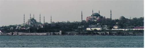 Panorama Hagia Sophia and Blue Mosque Istanbul