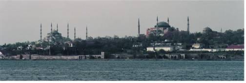Panorama Hagia Sophia and Blue Mosque Istanbul