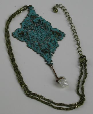 Pearl Drop Antique Looking Necklace