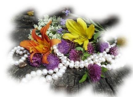 pearls and flowers