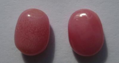 Pink Conch Pearl Pair 2.99 carats