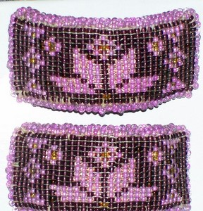 Purple Black Beading