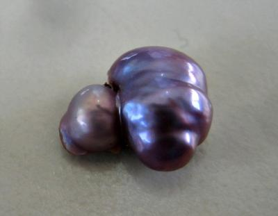 il glass etsy pearls beads round pearl market light purple
