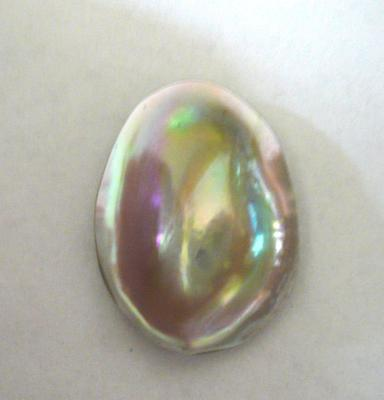 Red abalone natural blister pearl