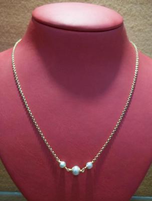 Salt Water Natural Pearl Necklace 2.70 Carat