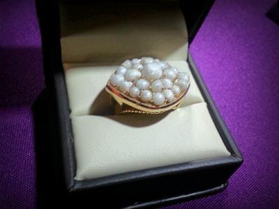 Sea Scallop Pearl Ring