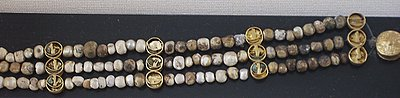 Section of Ancient Pearl Necklace found by de Morgan