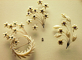 Seed Pearl Pins British Museum