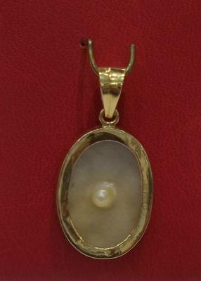 Persian Gulf Blister Pearl Pendant 18K gold