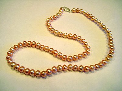 Single Strand Pink Pearls