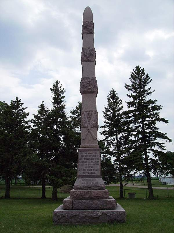 Sioux Uprising Monument Wood Lake