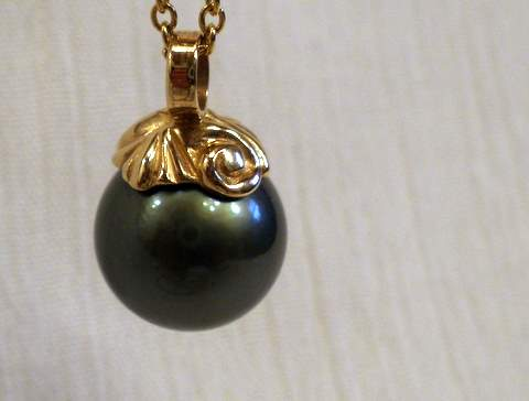 Tahitian Black Cultured Pearl Pendant