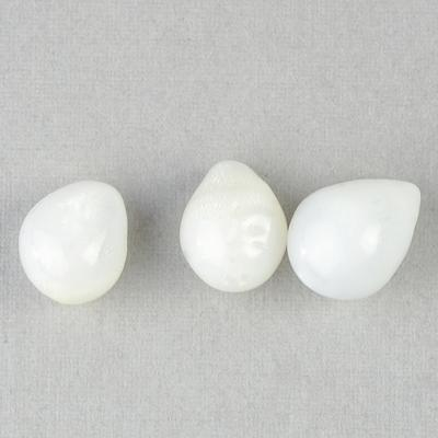 Three Clam Pearls Drop Shape 11+carats total Set