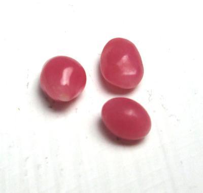 Three Conch Pearls 1+ carats Dark Pink Ovals