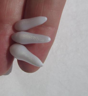 Three Long Drop Shaped Clam Pearls 21-17mm