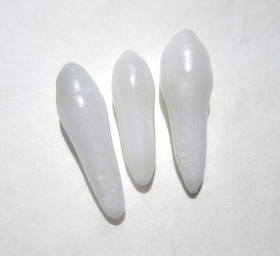 Three Long Drop Shaped Clam Pearls 21-17mm