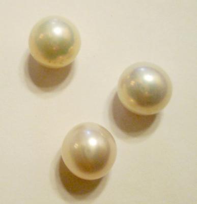 Three Matching Natural Freshwater Pearls