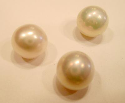 Three Matching Natural Pearls USA