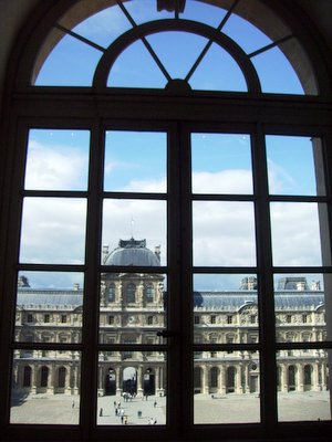 Through a window at the Louvre