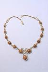 Brown Conch Pearl & Diamond Necklace