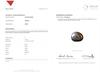 Certificate Natural 2.02 carat Basra Pearl Silver Colored 7mm on 18k Gold