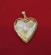 Natural Basra Blister Pearl Shell Heart Shaped Pendant