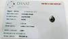 Certificate - Natural Basra Drop Pearl Pendant with Diamond
