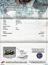 Certificate - Natural Basra Pearl and Diamonds Earrings on 18k Gold