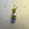 Natural Basra Pearl Light Cream Pendant with Diamonds
