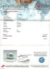 Certificate - Natural Basra Pearl Light Cream Pendant with Diamonds