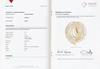 Certificate - Natural Basra Pearl Necklace 30 carats