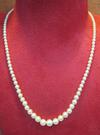 Natural Basra Pearl Necklace High Quality Roundish Pearls 64 carats
