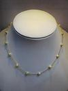Natural Basra Pearl Necklace on 18k Gold