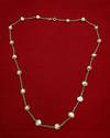 Natural Basra Pearl Necklace on 18k Gold - 41 carats for Sale