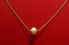 Natural Basra Pearl Necklace on 18k Gold Chain 1.17 carats