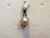 Natural Basra Pearl Pendant 1 carat 5mm 18k White Gold