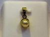 Natural Basra Pearl Pendant 1 carat 6mm 18k Gold